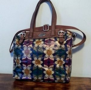 Fossil  key-per canvas coated tote